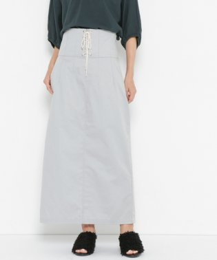 【SENSEOFPLACE】レースアップミディタイトスカート