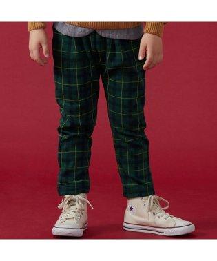 チェック柄裏シャギー   7days Style パンツ 10分丈