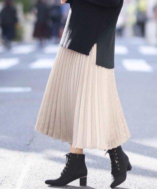 【InRed12月号掲載商品】マットサテン親子プリーツスカート