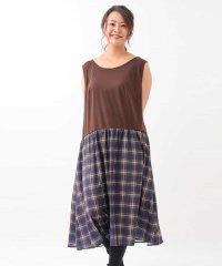 【大きいサイズ】スカート見え実現!レイヤードインナーワンピース