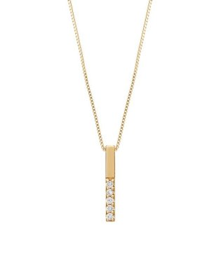 ダイヤモンド5セキバーネックレス(YG)