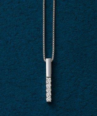 ダイヤモンド5セキバーネックレス(WG)