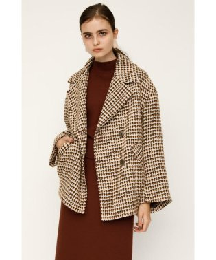 ROVING CHECK OVER COCOON COAT