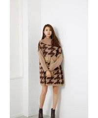 Off turtle Poncho Knit OP