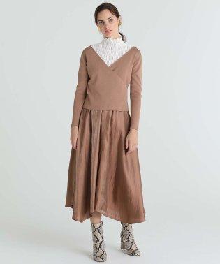 イレギュラーヘムニットドレス
