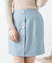 WEGO/フロントアソートボタンスカート