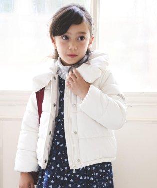 タフタショート丈中綿コート