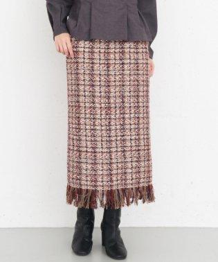 【KBF+】フリンジツイードスカート