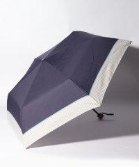ヘムストライプ晴雨兼用折りたたみ傘 雨傘