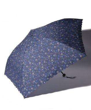 小花柄晴雨兼用軽量折りたたみ傘 雨傘