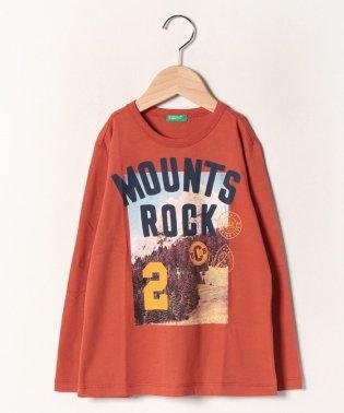 マウンテンプリントTシャツ・カットソー