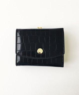Legato Largo クロコ型押し がま口三つ折りミニ財布