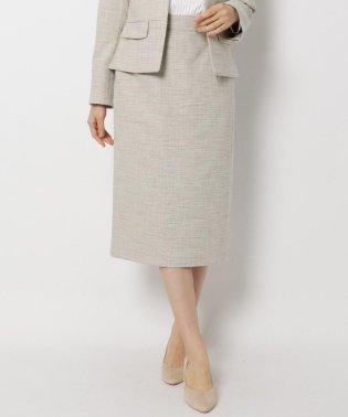 【セレモニー・入卒】【34(SS)、42(LL)WEB限定サイズ】キャリーマンツイードタイトスカート
