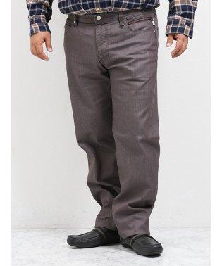 【大きいサイズ】レノマオム/renoma HOMME ブライトヘリンボン5ポケットストレートパンツ