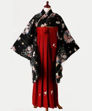簡単着付けの刺繍入り袴和装セット【2019年新作】