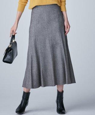ウールシャンブレーツイル フレアスカート