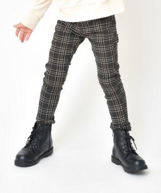 プレミアムストレッチチェック裏起毛パンツ(80~150cm)