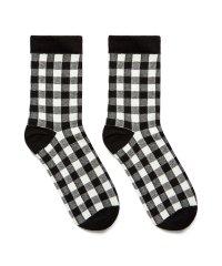 ブロックチェックソックス・靴下