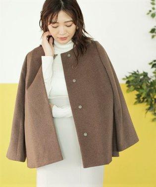 【MAGASEEK/dfashion別注】バックデザインノーカラーコート
