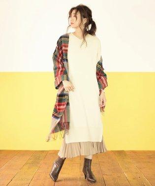 【MAGASEEK/dfashion別注】ニットワンピ&スカートセット