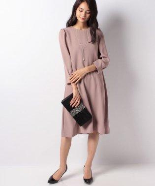 【ドレスライン】ネックレス付き長袖ドレス