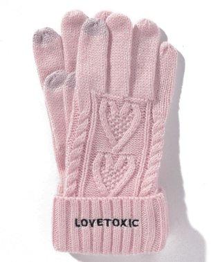 ケーブル編みスマホ手袋