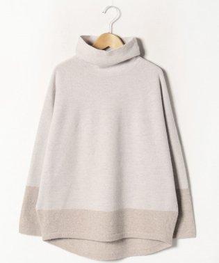 【大きいサイズ】12G 天竺表目×リンクスタートルネックセーター