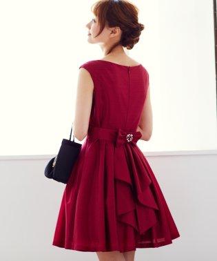 Backラッフルリトルブラックドレス