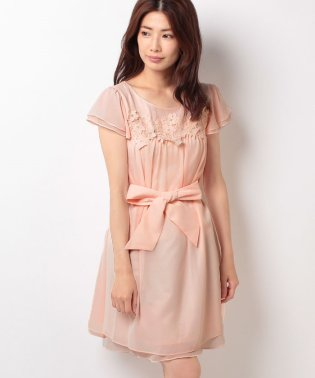 FlowerレースヨークAラインドレス