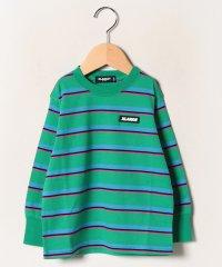 ボーダーロゴロングTシャツ