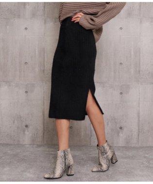 シャギーニットタイトスカート