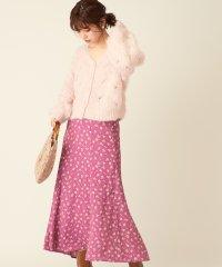 【natural couture】ドット花柄マーメイドスカート