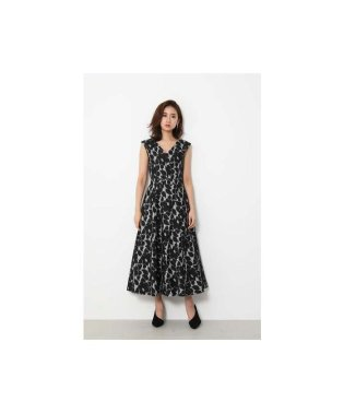 Deep V/N WAVE Flare DRESS