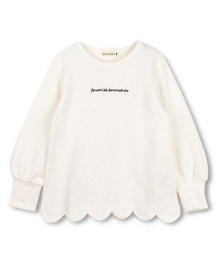 裾スカラップ裏起毛チュニック(80~150cm)