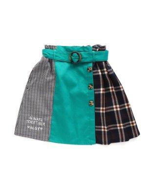 ニコ☆プチ12月号掲載  チェックドッキングスカート