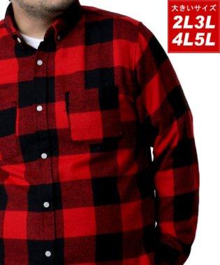 【大きいサイズ】ネル チェック 長袖シャツ