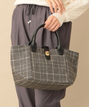 【CACHELLIE】ECO LEATHER HANDLE TOTE(M)