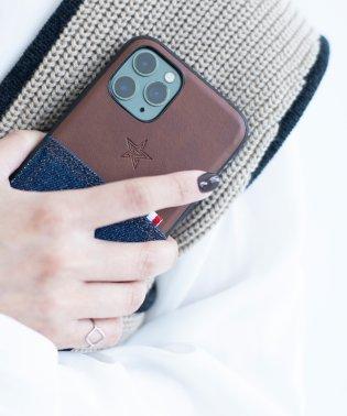 〈Kajsa/カイサ〉Denim Pocket Backcase for iPhone11Pro・iPhone11Pro MAX/デニムポケット バックケース