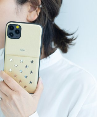 〈Kajsa/カイサ〉Polka Star Pocket Backcase for iPhone11Pro・iPhone11ProMAX/ポルカスターポケットケ