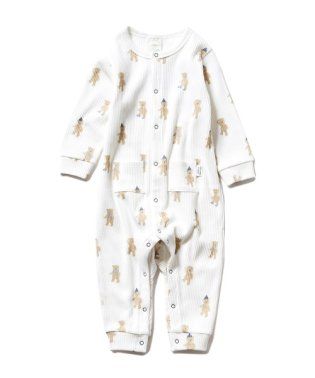【BABY】テディベア baby ボーイズロンパース