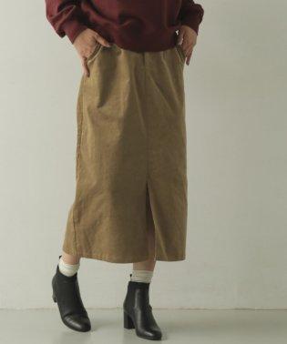 前スリットコーデュロイスカート