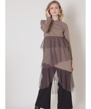 Long Tiered Mixture Dress