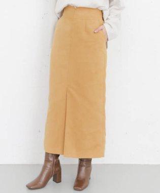KBF+ フェイクスエードロングタイトスカート