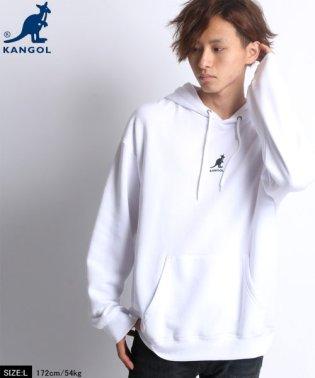 【KANGOL】カンゴール ビッグシルエット ミニロゴ刺繍 裏起毛 パーカー