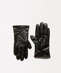 フェイクレザーミクロドットグローブ・手袋