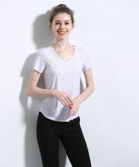 シームレスインナー[AIR COOL] Vネック リブ半袖Tシャツ