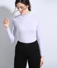 シームレスインナー[AIR COOL] フリルネック 長袖Tシャツ