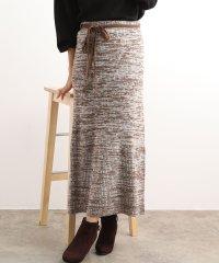 【WEB限定】ウエスト紐メランジニットスカート