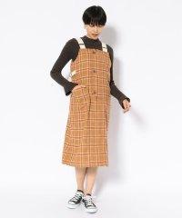 【直営店限定】ウールチェック ジャンパースカート/WOOL CHECK JUMPER SKIRT