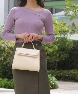 【2way】【本革】フラップミニハンドバッグ/ショルダーバッグ